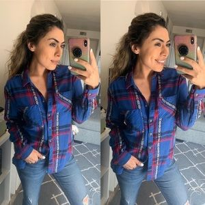 Urban Outfitters Tops - Blue flannel